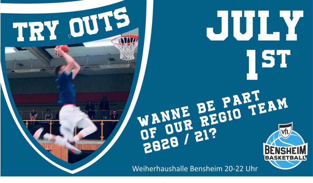 TRy-Outs für die Regionalliga am 1. Juli